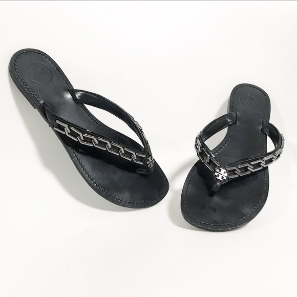 3b1f231a08c6c Tory Burch. Clea chain thong sandal. Size 7.5. M 5bdbdb7fde6f620de753919c
